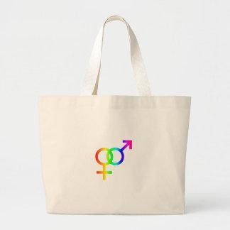 虹の異性愛 ラージトートバッグ