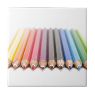 虹の着色された鉛筆 タイル