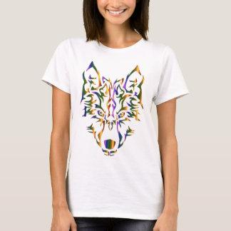 虹の種族のオオカミの頭部(先に見る) Tシャツ