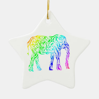 虹の種族象 セラミックオーナメント