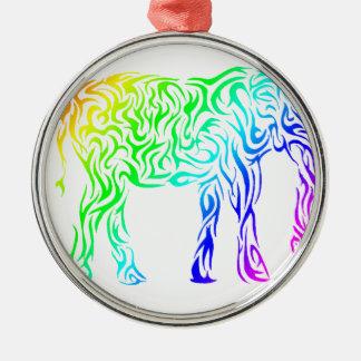 虹の種族象 メタルオーナメント