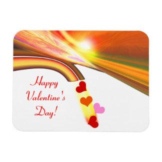 虹の空のバレンタインのハート マグネット