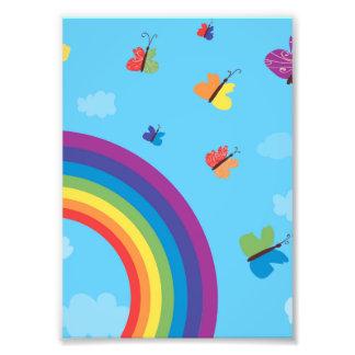 虹の空の蝶 フォトプリント