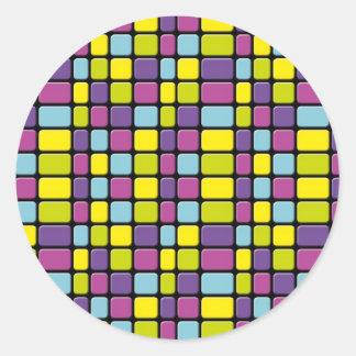 虹の立方体 ラウンドシール