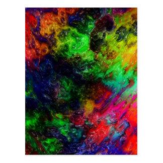 虹の粘着物 ポストカード