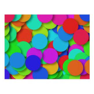 虹の紙吹雪パターン ポストカード
