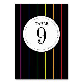 虹の細い縦縞10ptsはLGBTの結婚式を並べます カード