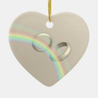 虹の結婚指輪 セラミックオーナメント