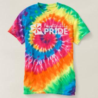 虹の絞り染めのフェーエットビルのプライド Tシャツ