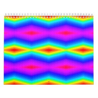 虹の絞り染め カレンダー