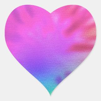 虹の絞り染め ハートシール