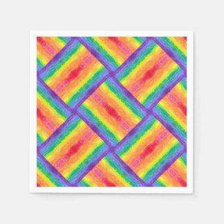 虹の織り方のナプキン スタンダードカクテルナプキン
