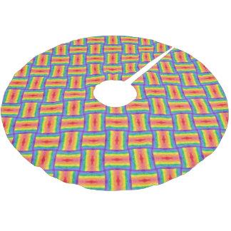 虹の織り方の木のスカート ブラッシュドポリエステルツリースカート