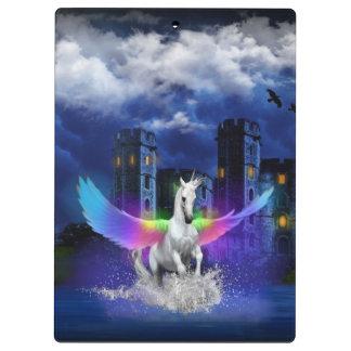 虹の翼とのユニコーン クリップボード
