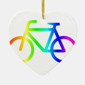 虹の自転車#3 セラミックオーナメント