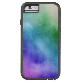 虹の色相の水彩画の雲 TOUGH XTREME iPhone 6 ケース