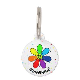 虹の花のペットタグ ペット ネームタグ
