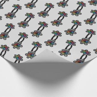 虹の花の包装紙 ラッピングペーパー