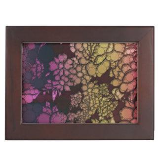 虹の花の抽象芸術 ジュエリーボックス