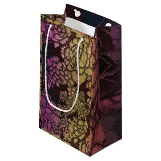 虹の花の抽象芸術 スモールペーパーバッグ