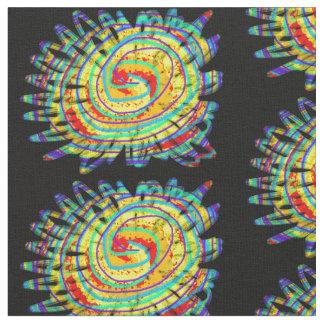 虹の花の生地 ファブリック