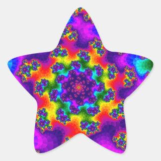 虹の花柄は星のステッカーを振りかけます 星シール