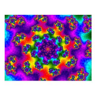 虹の花柄は郵便はがきを振りかけます ポストカード
