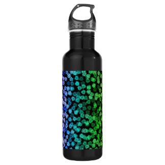 虹の花柄パターン ウォーターボトル