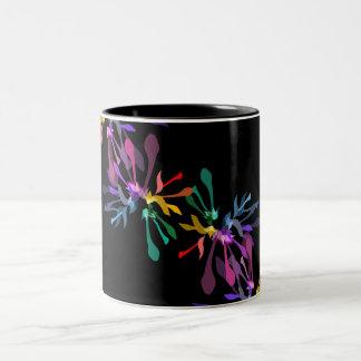 虹の花火のプリント ツートーンマグカップ