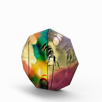 虹の草の戯曲写真のブロック 表彰盾