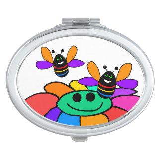 虹の蜂のコンパクトの鏡