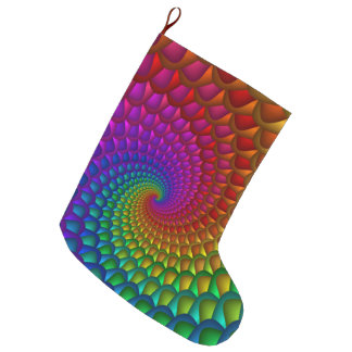 虹の螺線形のクリスマスのストッキング ラージクリスマスストッキング