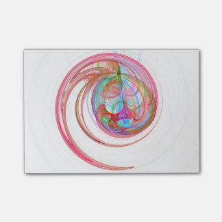虹の螺線形のポスト・イットのパッド ポストイット