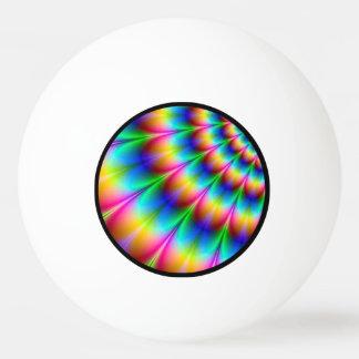 虹の螺線形の目の錯覚 卓球ボール
