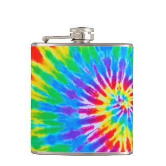 虹の螺線形の絞り染めのフラスコ フラスク