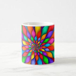虹の螺線形の花びらの花のマグ コーヒーマグカップ