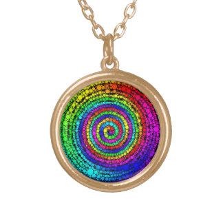 虹の螺線形 ゴールドプレートネックレス