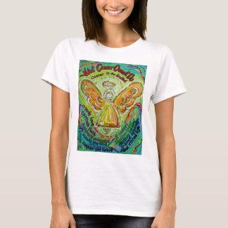 虹の蟹座は天使の芸術のTシャツをすることができません Tシャツ