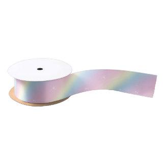 虹の輝きによってはリボンが夢を見ます サテンリボン