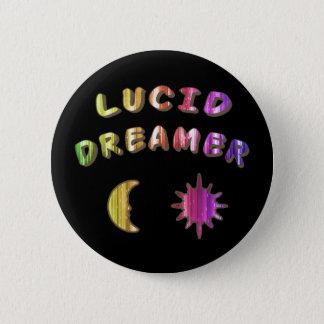 虹の透明な夢みる人ボタンかピン 缶バッジ