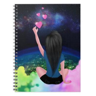虹の銀河系のノート ノートブック