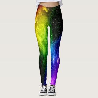 虹の銀河系LGBTのプライド レギンス