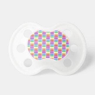 虹の長方形パターン おしゃぶり