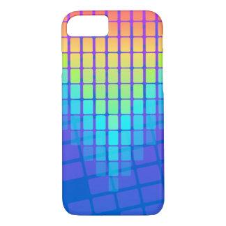 虹の長方形パターン iPhone 7ケース