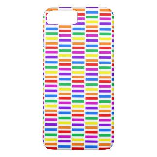 虹の長方形パターン iPhone 8 PLUS/7 PLUSケース