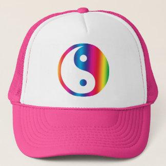 虹の陰陽の帽子 キャップ