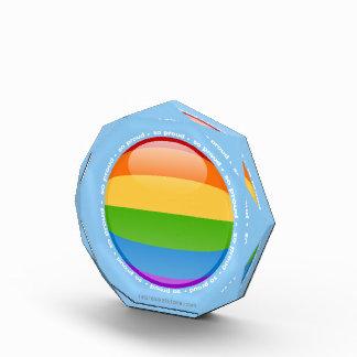 虹の陽気なレズビアンのプライドの泡旗 表彰盾