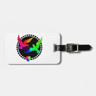 虹の陽気な新婚旅行の荷物のラベルの全体 ラゲッジタグ