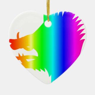 虹の雄豚の頭部 セラミックオーナメント