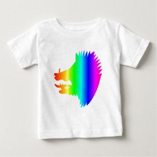 虹の雄豚の頭部 ベビーTシャツ